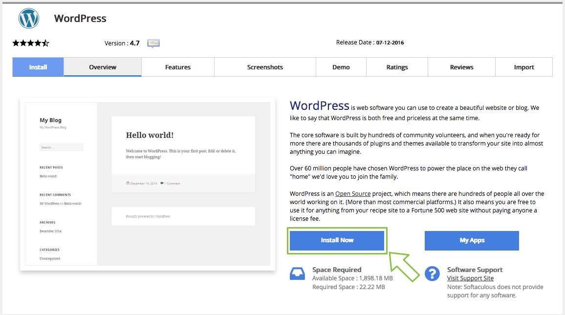 How to install wordpress using softaculous netngn for How to install wordpress template in cpanel